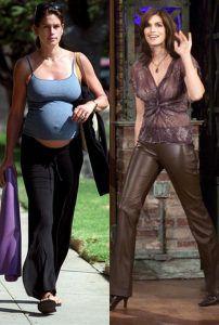 Синди Кроуфорд до и после беременности